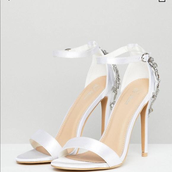 395a26754fe8 Asos BE MINE Bridal white heel
